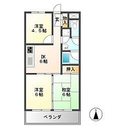 アクセス11[4階]の間取り