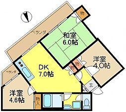 第二八千代ビル[2階]の間取り