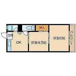 千成ハイツA棟[1階]の間取り