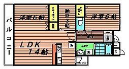 パークテラス広袴[3階]の間取り