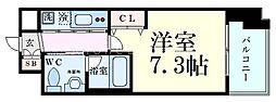 Innocent Doyama(イノセント堂山) 6階1Kの間取り