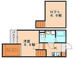 クレオ土井弐番館[2階]の間取り