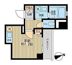 東京都品川区平塚1丁目の賃貸マンションの間取り