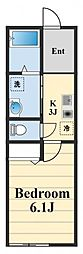 小田急小田原線 伊勢原駅 徒歩4分の賃貸アパート 1階1Kの間取り