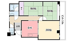 グレース武庫川[202号室]の間取り