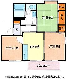 埼玉県加須市旗井の賃貸アパートの間取り