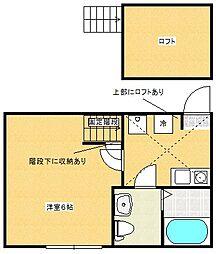 アンソレイユ橋本[102号室]の間取り