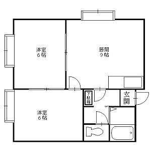 間取り,2DK,面積43.15m2,賃料4.2万円,,,北海道札幌市北区新琴似八条13丁目6-12