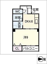 愛知県清須市西枇杷島町二見の賃貸アパートの間取り