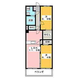 コート・ソレイユ[3階]の間取り