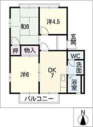 コーポMASA−II[2階]の間取り