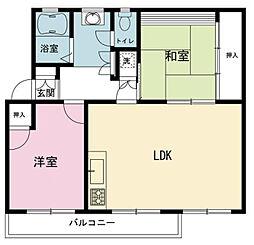 神奈川県横浜市旭区左近山の賃貸マンションの間取り