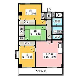 ロイヤル柴田[1階]の間取り