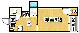 ドゥムール忍ケ丘[2階]の間取り