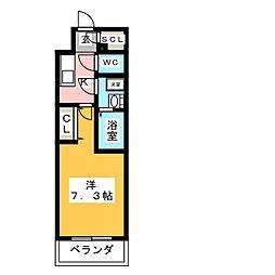 S-RESIDENCE浄心 8階1Kの間取り