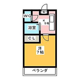 ウイステリア新瑞[8階]の間取り