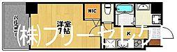 福岡県福岡市中央区清川3の賃貸マンションの間取り