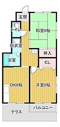 静岡県浜松市東区安新町の賃貸アパートの間取り