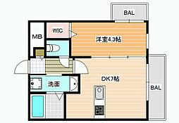 ステラウッド道明寺Ⅱ[1階]の間取り