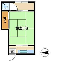 喜久乃荘[2号室]の間取り