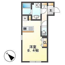 WELL COURT KANDA[2階]の間取り
