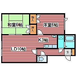 ラ・モード[2階]の間取り