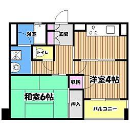 マノワール武蔵野[3階]の間取り