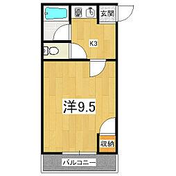 京都府京都市伏見区桃山水野左近西町の賃貸アパートの間取り
