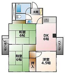 阪神甲子園住宅[2階]の間取り