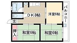 KATOコーポ[2階]の間取り