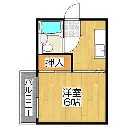 ヴィラ衣笠(開キ町)[203号室]の間取り