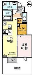 エクレール福井[1088号室]の間取り