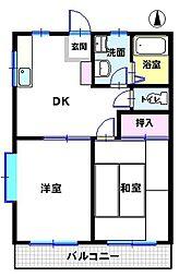 さくらハイツ富塚[206号室]の間取り