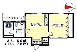 桜台コートハウス[201号室]の間取り