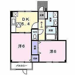 メゾン・ド・ふじ[1階]の間取り