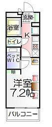 東京都葛飾区西水元6丁目の賃貸アパートの間取り