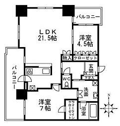 レジデンス梅田ローレルタワー[28階]の間取り