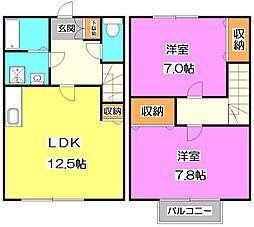 [テラスハウス] 東京都練馬区大泉学園町6丁目 の賃貸【東京都 / 練馬区】の間取り
