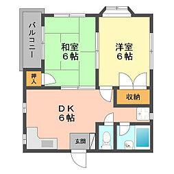 東京都江戸川区西篠崎1丁目の賃貸マンションの間取り