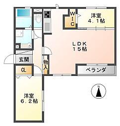 仮称武庫之荘5丁目D-room[301号室]の間取り