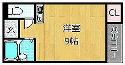 大阪府枚方市津田西町2丁目の賃貸アパートの間取り