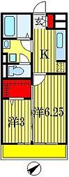 千葉県船橋市海神4丁目の賃貸アパートの間取り