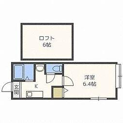 ロイヤルガーデン東札幌[1階]の間取り