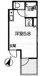 東京都板橋区大山町の賃貸アパートの間取り