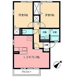 マノワール・ヒサシIII[1階]の間取り