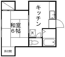 須賀コーポラス[202号室]の間取り