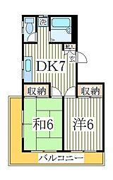 谷川第一マンション[2階]の間取り