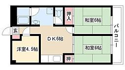 愛知県名古屋市南区鳴浜町7丁目の賃貸マンションの間取り