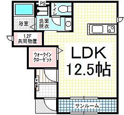Cube I[1階]の間取り