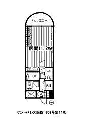 ケントパレス函館[802号室]の間取り